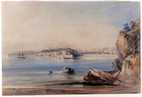Sydney Cove from North Shore, 1836