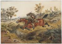 Hard-pressed or flight of a bushranger, 1874