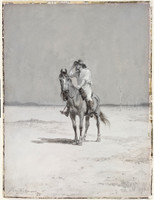 View of a man on horseback, 1892