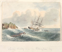 Landing Kennedy's horses from the Tam O'Shanter, c.1847