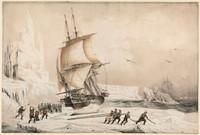 Les corvettes l'Astrolabe et la Zelee commandees par Dumont-Durville et Jacquinot, 1838