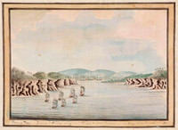 Botany Bay, Sirius & Convoy going in... 21 January 1788