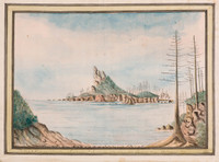 Phillip & Nepean Islands, Justinian & Surprise standing into Sydney Bay, 23 August 1790
