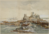 Bottle and Glass Rocks, Vaucluse before bombardment, 1887