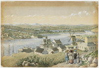 Millers Point from the Flagstaff, 1840s