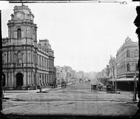 Bourke Street Melbourne, 1874
