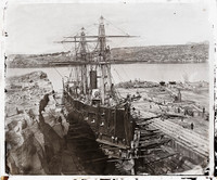 French warship in Sydney, 1873