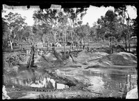 Gold sluice and tailings, Home Rule 1872