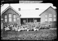 Hill End School and pupils 1872