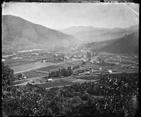 Panoramic view of Bright, Victoria, 1874