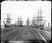 Railway Pier, Williamstown, 1874