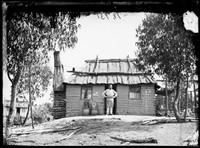 Wattle and daub hut, Hill End 1872