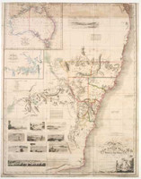 Map of part of New South Wales, embellished with views in the harbours of Port Jackson, 1825