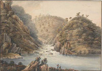 The second cataract on the North Esk near Launceston, 1809