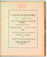 Title Page of <i>Natural History of eighteen nondescript moths</i>, c.1804