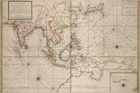 Carte des Costes de LAsie sur L'Ocean Contenant les Bancs Isles et Costes 1700?