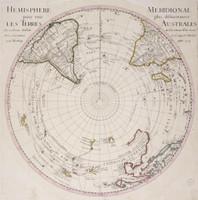 Hemisphere meridional pour voir plus distinctement les Terres Australes 1714
