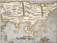 La table de la region orientale comprenant les dernieres terres & royaumes dAsie 1540