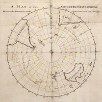 Map of the southern hemi-sphere showing the discoveries made in the Southern Ocean up to 1770