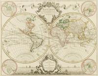 Mappe-monde dressé sur les observations, 1720