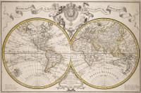 Mappemonde a lusage du Roy 1770