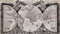 Noua orbis terrarum delineatio singulari ratione accommodata meridiano tabb, rudolphi astronomicarum 1630