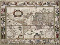 Nova totius terrarum orbis geographica ac hydrographica tabula 1635