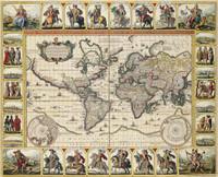Nova totius terrarum orbis geographica ac hydrographica tabula 1652