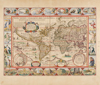 Nova totius terrarum orbis geographica ac hydrographica tabula, 1639