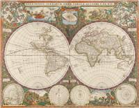 Nova totius terrarum orbis tabula, 1660