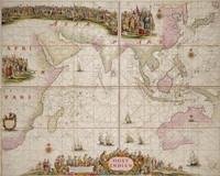 Oost Indien wassende-graade paskaart, vertoonende nevens het Oostelyckste van Africa, meede de zeekusten van Asia, van C. de Bona Esperanca tot Eso, b