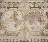 Planisphærium terrestre cum utroque coelesti hemisphærio, sive diversa orbis terraquei 1700