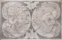 Salamanca's world map on double cordiform projection, 1556