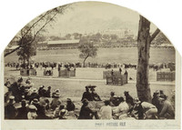Cricket match in the Domain, 1862