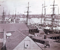 Grafton Wharf, Darling Harbour, Sydney, 1871