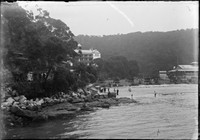 Marine Hotel, Chowder Bayw. Thompson's Port Jackson Pavilion and Pleasure Grounds on the right.