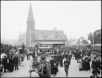 Railway Square looking towards George Street and Christ Church St Lawrence.
