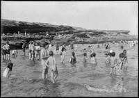 Children swimming in rock pool at Clovelly.