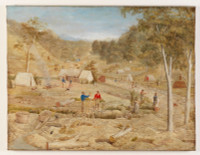 Mining camp, Victoria or NSW, ca. 1855-60