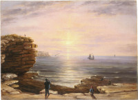 Morning at the `Heads' of Port Jackson or the Pilot's Look-out, 1850