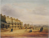 View of Lyons' Terrace Hyde Park Sydney N.S.W., 1849
