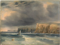 No.1 The Heads of Port Jackson N.S.W. from off the North Head - a squall, 1846