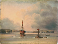 No.2 Port Jackson N.S.W. The Floating Light - (Morning), 1846