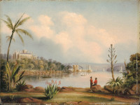 No.4 Government House and Fort Macquarie Sydney N.S.W. from the Botanical Gardens, 1846