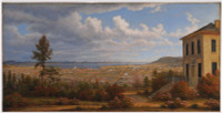 Hobart Town, taken from the garden where I lived, 1832