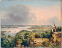 View of the Heads of Port Jackson N.S.W. looking north from a hill above Vaucluse bay, 1846