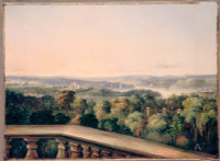 View from Craigend looking over Government House and Domain, 1845