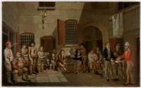 The mock trial (scene inside Newgate Prison), 1812