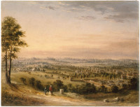 View of the town of Parramatta from May's Hill, ca. 1840