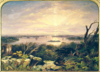 City and Harbour of Sydney, NSW from Vaucluse,  ca. 1855